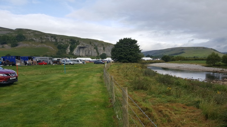 The view from this year's Kilnsey Show tent